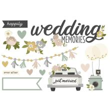 Simple Stories Simple Page Pieces - Happily Ever After Wedding Memories