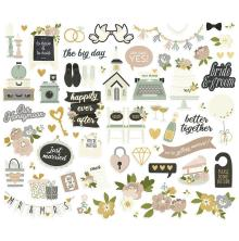 Simple Stories Bits & Pieces Die-Cuts 60/Pkg - Happily Ever After Icons