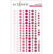 Altenew Enamel Dots 153/Pkg - Red Cosmos