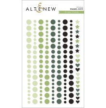 Altenew Enamel Dots 153/Pkg - Green Fields