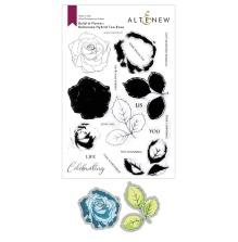 Altenew Clear Stamp And Die Build A flower - Bellaroma Hybrid Tea Rose