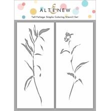 Altenew Stencil 3X6 2/Pkg - Tall Foliage
