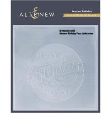 Altenew Debossing Folder - Modern Birthday Faux Letterpress