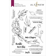 Altenew Clear Stamps 6X8 - Inspirational Quotes
