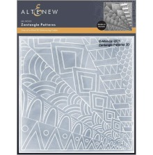 Altenew Embossing Folder - Zentangle Patterns 3D