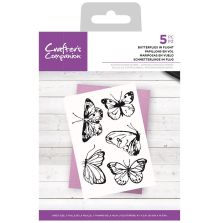Crafters Companion Photopolymer Stamp Set - Butterflies in Flight