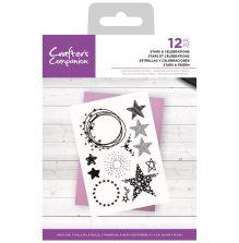 Crafters Companion Photopolymer Stamp Set - Stars & Celebrations