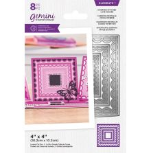 Gemini Elements Die - Inverted Stitched Lace Square