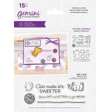 Gemini Stamp & Die - Smitten As A Kitten