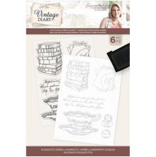 Sara Davies Vintage Diary Photopolymer Stamp - Exquisite Embellishments