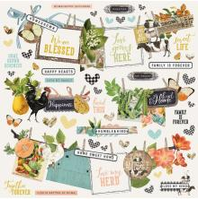 Simple Stories Sticker Sheet 12X12 - SV Farmhouse Garden Banner