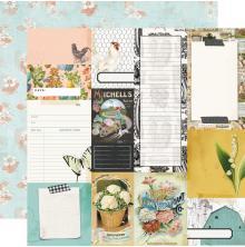 Simple Stories SV Farmhouse Garden Cardstock 12X12 - Journal Elements