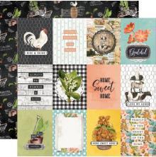 Simple Stories SV Farmhouse Garden Cardstock 12X12 - 3x4 Elements
