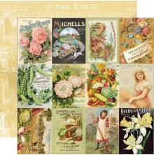 Simple Stories SV Farmhouse Garden Cardstock 12X12 - 3x4 Seed Packet Elements