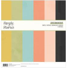 Simple Stories Basics Paper Pack 12X12 6/Pkg - SV Farmhouse Garden