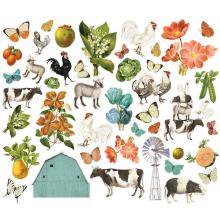 Simple Stories Bits & Pieces Die-Cuts 44/Pkg - SV Farmhouse Garden