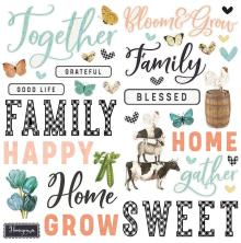 Simple Stories Foam Stickers 56/Pkg - SV Farmhouse Garden
