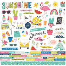 Simple Stories Sticker Sheet 12X12 - Sunkissed