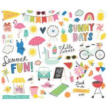 Simple Stories Bits & Pieces Die-Cuts 55/Pkg - Sunkissed Icons
