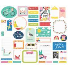 Simple Stories Bits & Pieces Die-Cuts 39/Pkg - Sunkissed Journal