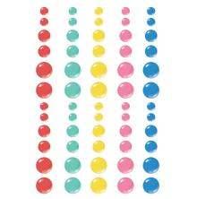 Simple Stories Enamel Dots 60/Pkg - Sunkissed