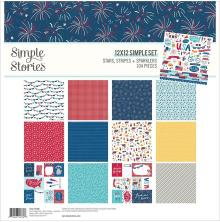 Simple Stories Collection Kit 12X12 - Stars, Stripes + Sparklers
