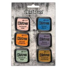 Tim Holtz Distress Enamel Collector Pin Set 6/Pkg - Set 8