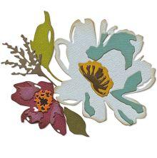 Tim Holtz Sizzix Thinlits Dies - Brushstroke Flowers #3