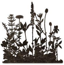 Tim Holtz Sizzix Thinlits Dies - Flower Field