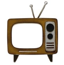 Tim Holtz Sizzix Bigz Die - Retro TV