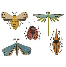 Tim Holtz Sizzix Thinlits Dies - Funky Insects