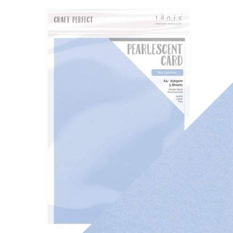 Tonic Studios Craft Perfect Pearlescent Card A4 - Blue Cashmere