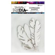Dina Wakley Media Chipboard Shapes - Feathers