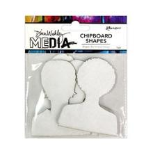 Dina Wakley Media Chipboard Shapes - Passport Photos
