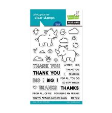 Lawn Fawn Clear Stamps 4X6 - Hero Arts Big Thanks