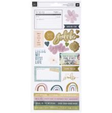 Heidi Swapp Cardstock Stickers 48/Pkg - Care Free