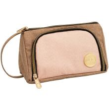 We R Memory Keepers Crafters Pencil Pouch -Taupe & Pink