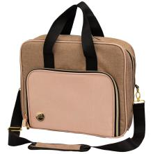 We R Memory Keepers Crafters Shoulder Bag - Taupe & Pink