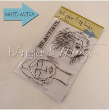 hÄnglar & Wings Clear Stamps - Ansikten #1