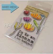 hÄnglar & Wings Clear Stamps - Grafiska Blommor