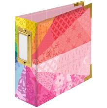 We R Memory Keepers Paper Wrapped D-Ring Album 4X4 - Color Wheel By Paige Evans