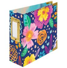 We R Memory Keepers Paper Wrapped D-Ring Album 4X4 - Floral By Paige Evans