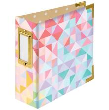 We R Memory Keepers Paper Wrapped D-Ring Album 4X4 - Geometric By Paige Evans