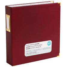 We R Memory Keepers Paper Wrapped D-Ring Album 8.5X11 - Maroon