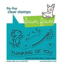 Lawn Fawn Clear Stamps 3X2 - Dandy Day Flip-Flop