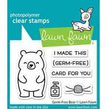 Lawn Fawn Clear Stamps 3X2 - Germ-Free Bear