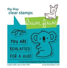 Lawn Fawn Clear Stamps 3X2 - I Love You (Calyptus) Flip-Flop