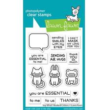 Lawn Fawn Clear Stamps 3X4 - Say What? Masked Critters