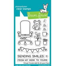 Lawn Fawn Clear Stamps 3X4 - Virtual Friends Add-On