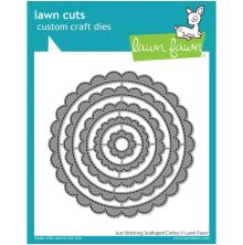 Lawn Fawn Dies - Just Stitching Scalloped Circles